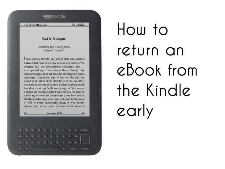 How to return an eBook from the Kindle early<br />