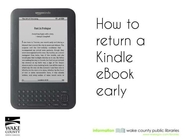 How to return a Kindle eBook early