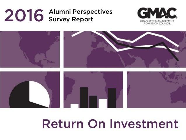 Alumni Perspectives Survey Report2016 Return On Investment