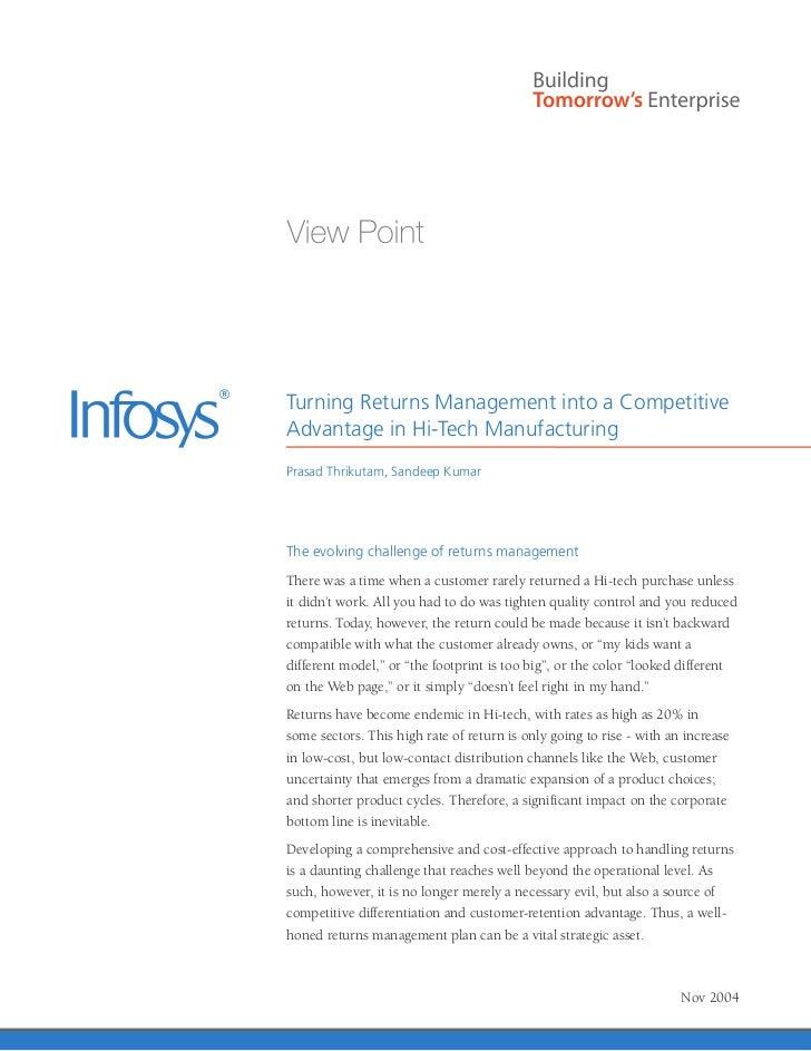 Turning Returns Management into a CompetitiveAdvantage in Hi-Tech ManufacturingPrasad Thrikutam, Sandeep KumarThe evolving...