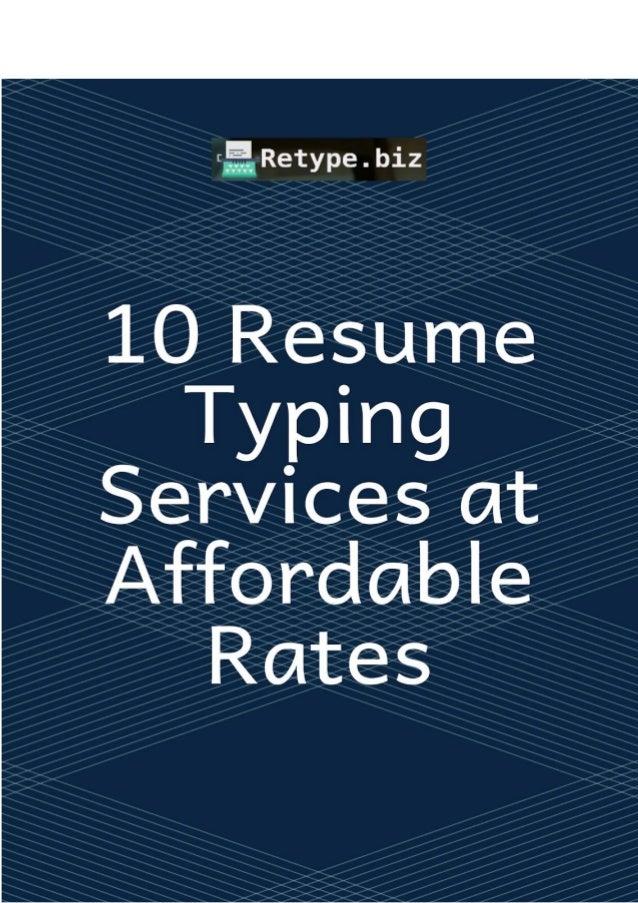 Inexpensive resume help