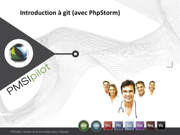 Introduction à git (avec PhpStorm)