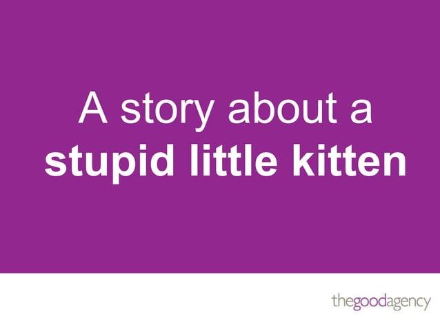 A story about astupid little kitten