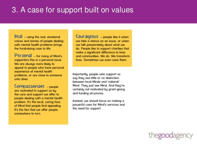 3. A case for support built on values
