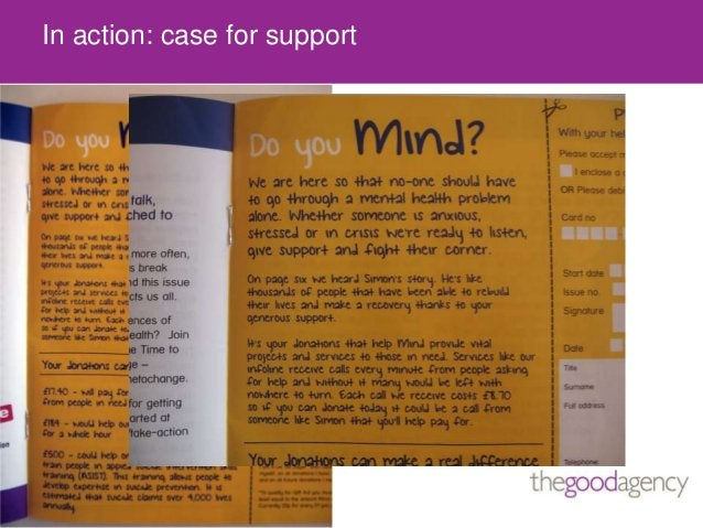 In action: case for support