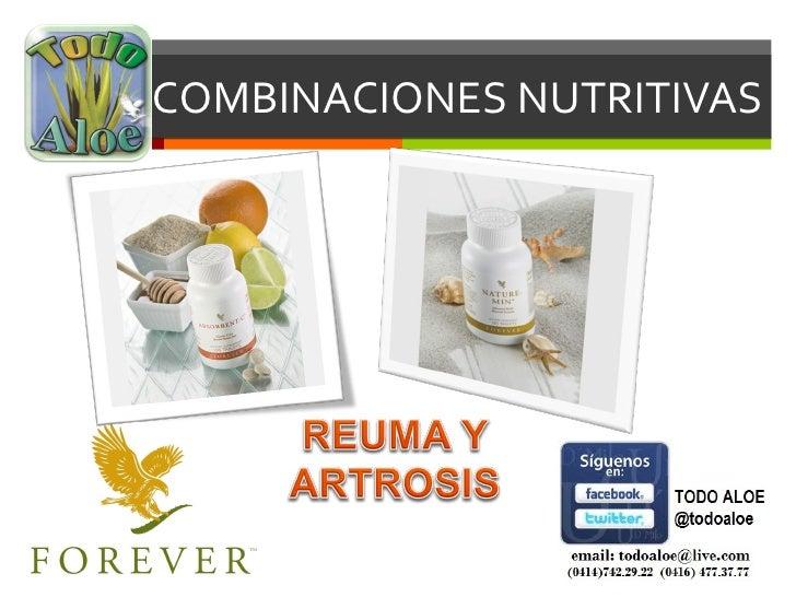 COMBINACIONES NUTRITIVAS