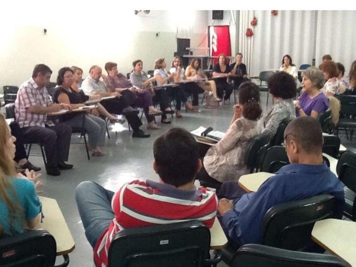 Reunião da Dirigente com os Supervisores e a apresentação dos novos funcionários.