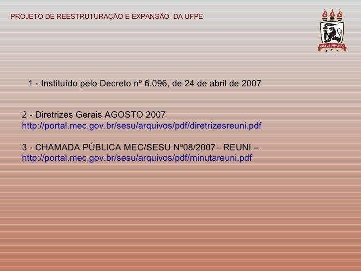 Reuni Ufpe 01 03 2008 Slide 2