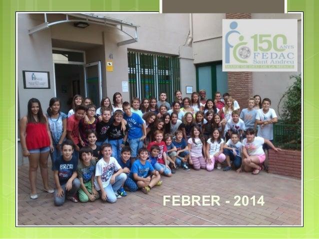 REUNIÓ DE PARES 6è Primària FEBRER FEBRER-2014  - 2014