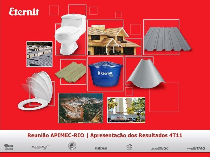 Reunião APIMEC-RIO | Apresentação dos Resultados 4T11