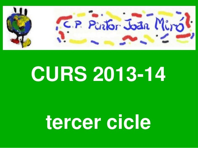 CURS 2013-14 tercer cicle