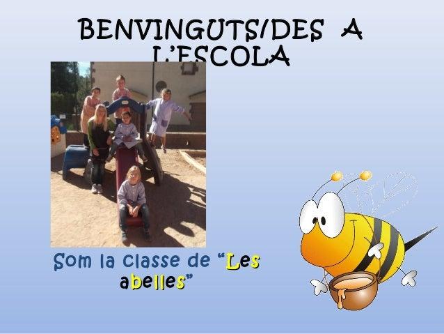 """BENVINGUTS/DES A L'ESCOLA Som la classe de """" LLess abbelllless"""""""