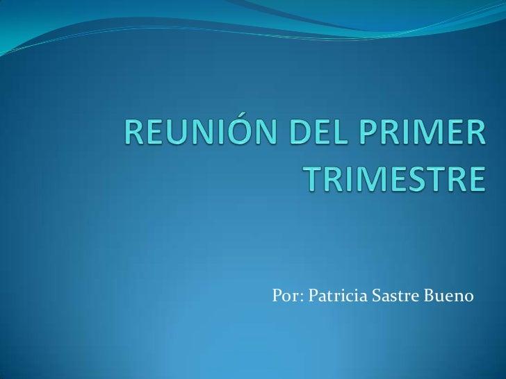Por: Patricia Sastre Bueno
