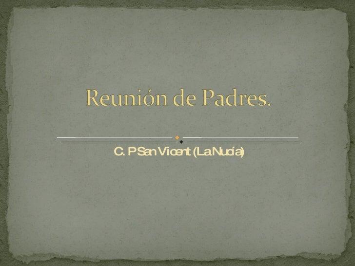 C. P San Vicent (La Nucía)