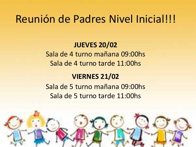 Reunión De Padres Nivel Inicial 2014