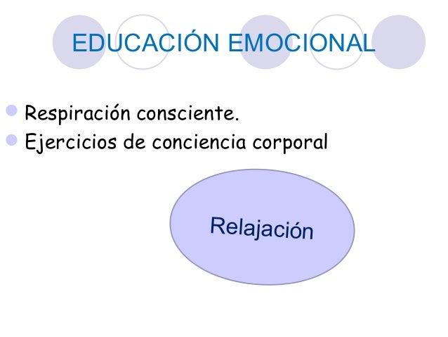 EDUCACIÓN EMOCIONAL Respiración consciente. Ejercicios de conciencia corporal Relajación