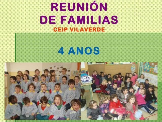 REUNIÓNDE FAMILIAS CEIP VILAVERDE  4 ANOS