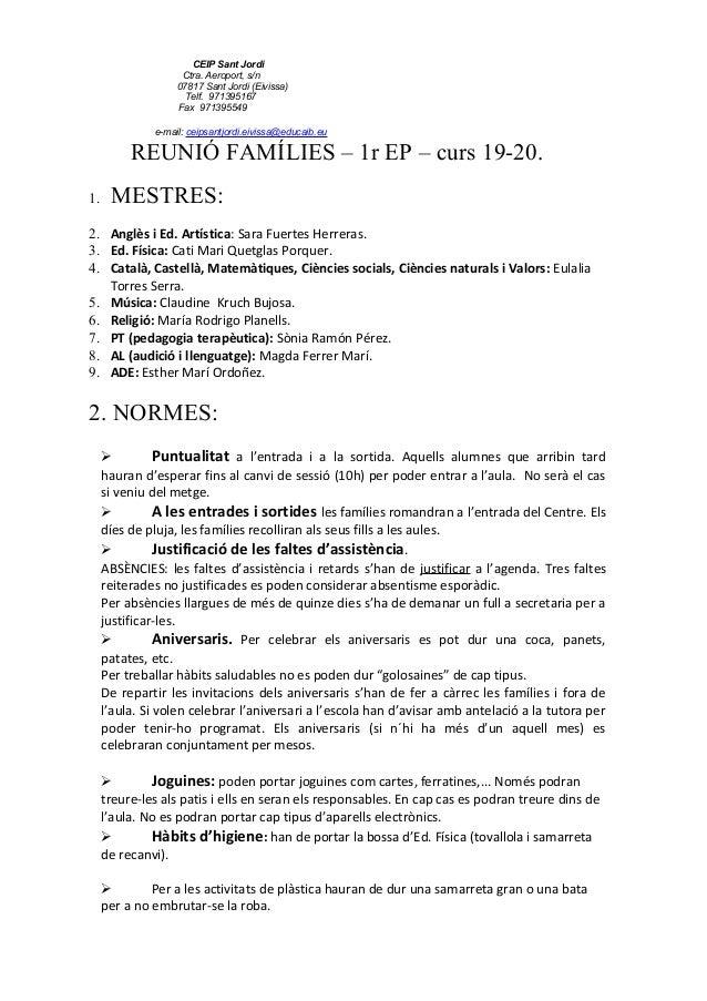 CEIP Sant Jordi Ctra. Aeroport, s/n 07817 Sant Jordi (Eivissa) Telf. 971395167 Fax 971395549 e-mail: ceipsantjordi.eivissa...