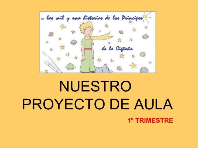 NUESTRO PROYECTO DE AULA 1º TRIMESTRE