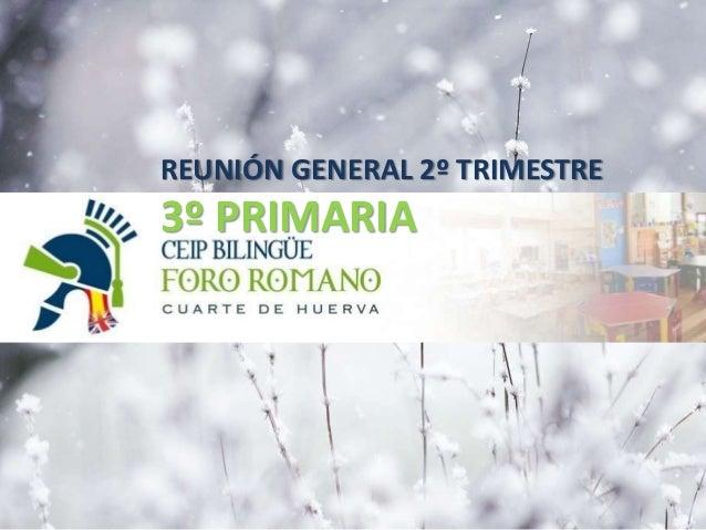 REUNIÓN GENERAL 2º TRIMESTRE 3º PRIMARIA