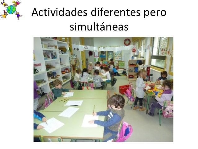 Actividades diferentes perosimultáneas