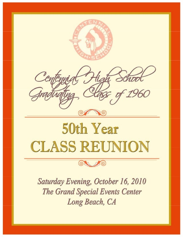 Souvenir Book Centennial H S 50th Reunion