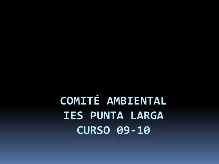COMITÉ AMBIENTAL IES PUNTA LARGA CURSO 09-10<br />