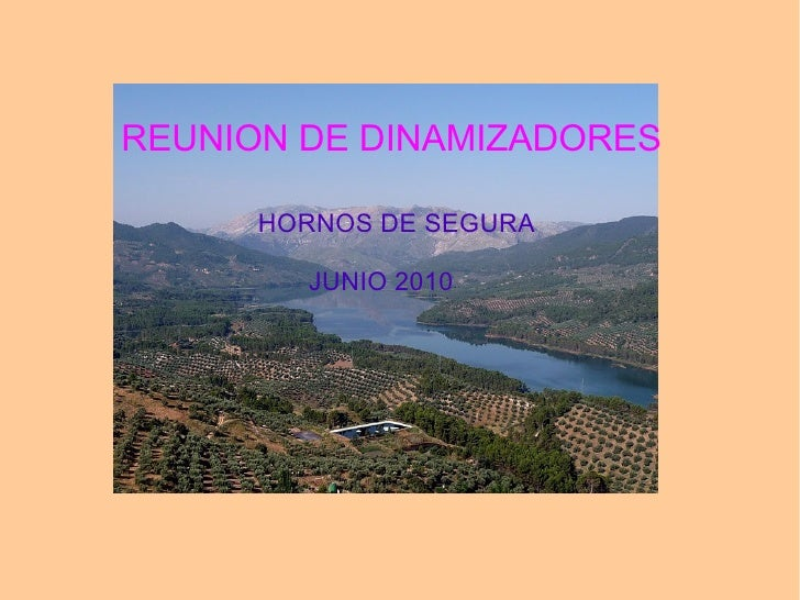 REUNION DE DINAMIZADORES HORNOS DE SEGURA JUNIO 2010