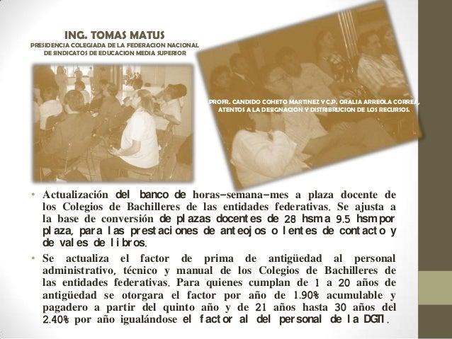 • Actualización del banco de horas-semana-mes a plaza docente de los Colegios de Bachilleres de las entidades federativas....