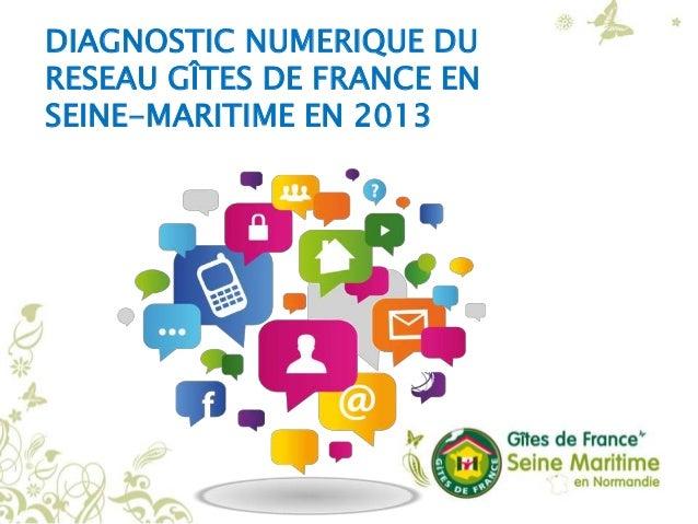 DIAGNOSTIC NUMERIQUE DU RESEAU GÎTES DE FRANCE EN SEINE-MARITIME EN 2013