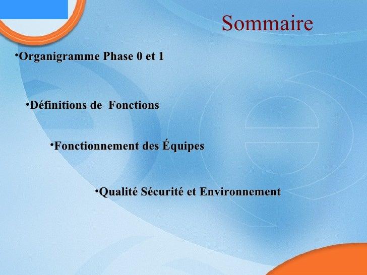 Sommaire <ul><li>Organigramme Phase 0 et 1 </li></ul><ul><li>Définitions de  Fonctions </li></ul><ul><li>Fonctionnement de...