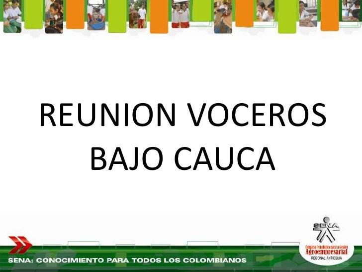 REUNION VOCEROS    BAJO CAUCA
