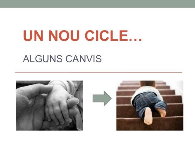 UN NOU CICLE…  ALGUNS CANVIS