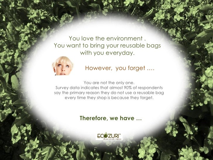 You love the environment . You want to bring your reusable bags         with you everyday.                However, you for...