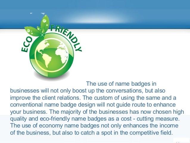 Eco-friendly Name Badges Slide 2