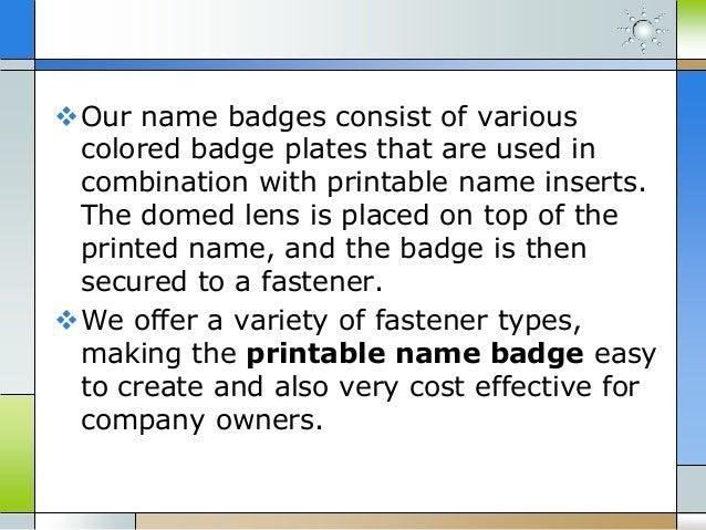 printable name badges