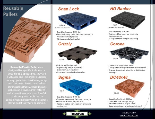 Reusable Plastic Pallets - Heavy Duty Plastic Pallets
