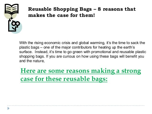Reusable Shopping Bags – 8 reasons that makes the case for them!  With the rising economic crisis and global warming, it's...
