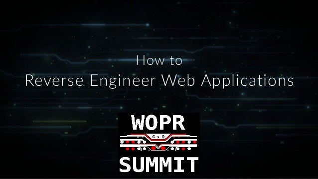 Reverse Engineer Web Applications How to