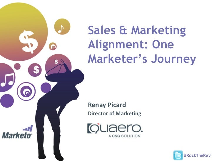 Sales & MarketingAlignment: OneMarketer's JourneyRenay PicardDirector of Marketing                        #RockTheRev