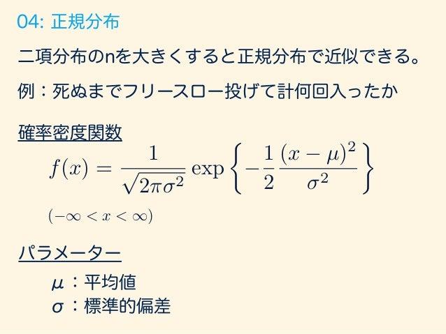 5/76 標準正規分布 Standard Normal Distribution