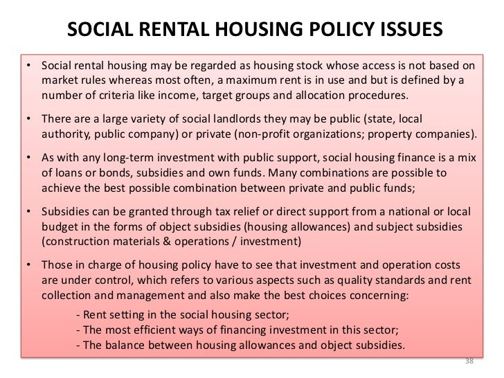 how has policy for social rented Government announces five-year rent settlement  some of which will be spent on social rent for the first time in seven years  tory housing policy and.