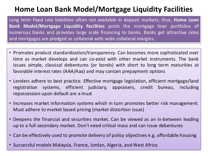 Home Loan Bank Modelmortgage Liquidity