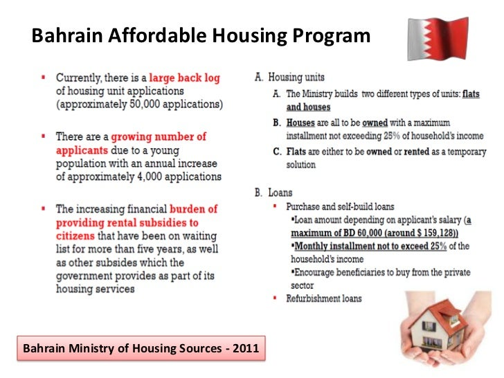 Bahrain Affordable Housing Programbahrain Ministry