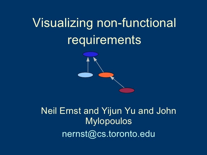 Visualizing non-functional requirements <ul><ul><li>Neil Ernst and Yijun Yu and John Mylopoulos </li></ul></ul><ul><ul><li...