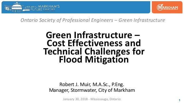 Ontario Society of Professional Engineers – Green Infrastructure Green Infrastructure – Cost Effectiveness and Technical C...