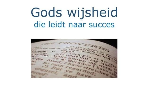 Gods wijsheid  die leidt naar succes