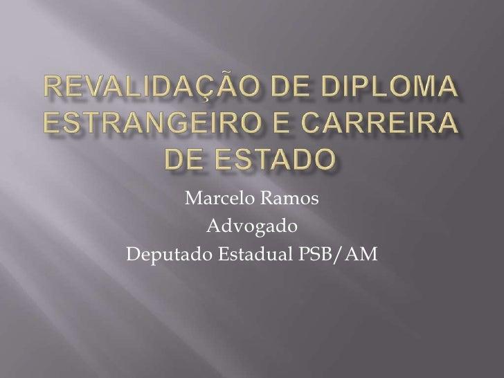 Marcelo Ramos       AdvogadoDeputado Estadual PSB/AM
