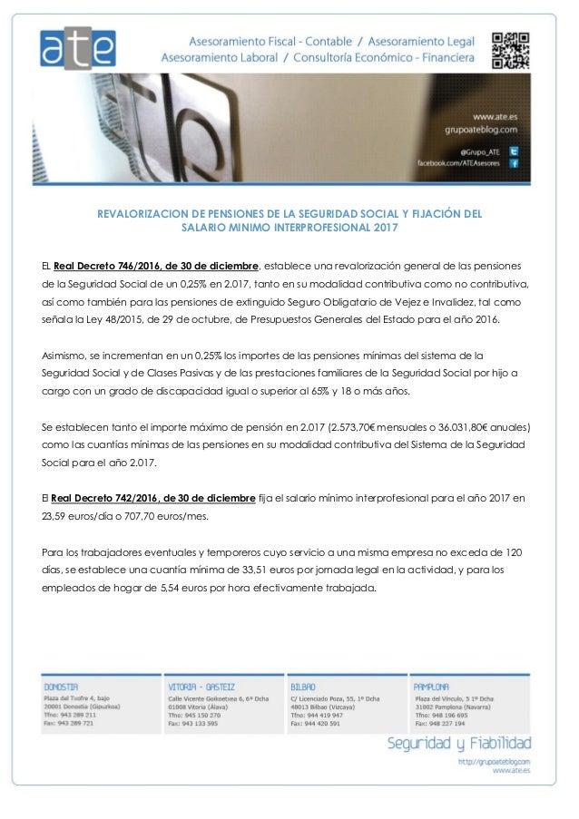 Revalorizacion de pensiones de la seguridad social y for Clausula suelo real decreto 1 2017