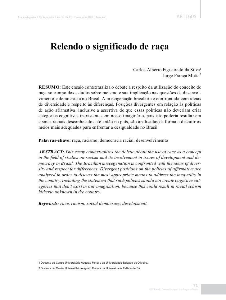 Revista Augustus | Rio de Janeiro | Vol. 14 | N. 27 | Fevereiro de 2009 | Semestral                                       ...